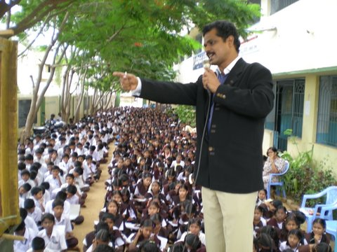 Telugu Handwriting workshop for Govt. school Children at Madanapalle