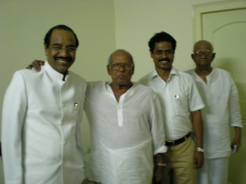With Dr. BV Pattabhiram, sri Bapu & Sri Ramana