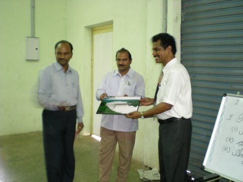 Momento from Principal, DAV of Srisailam Left Bank School.